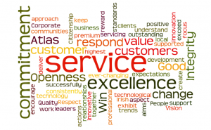 Service excellence word cloud